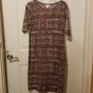 Lularoe XL colorful Julia dress
